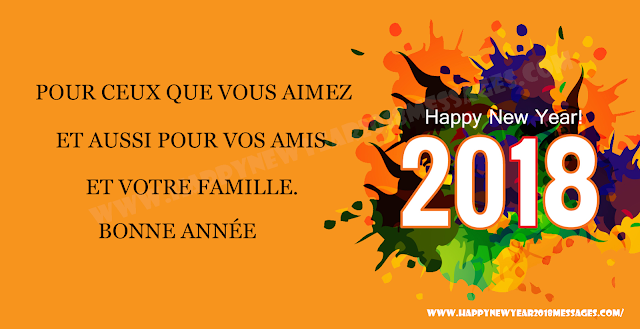 Happy New Year 2018 French Images messages