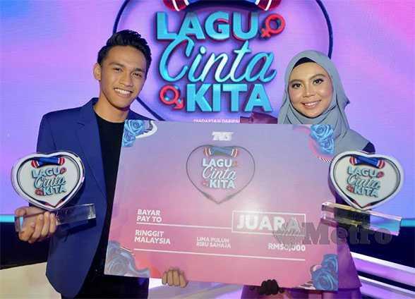Pasangan Naqi dan Ayuni juara program Lagu Cinta Kita