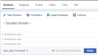 Cara Membuat Polling/Voting Di Facebook