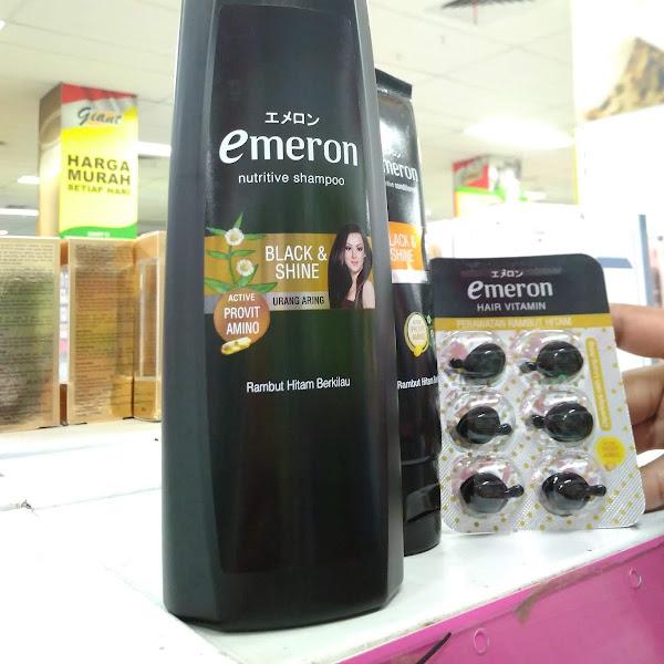 Perawatan Rambut Hitam Berkilau Dengan Emeron Nutritive Shampoo Black And Shine