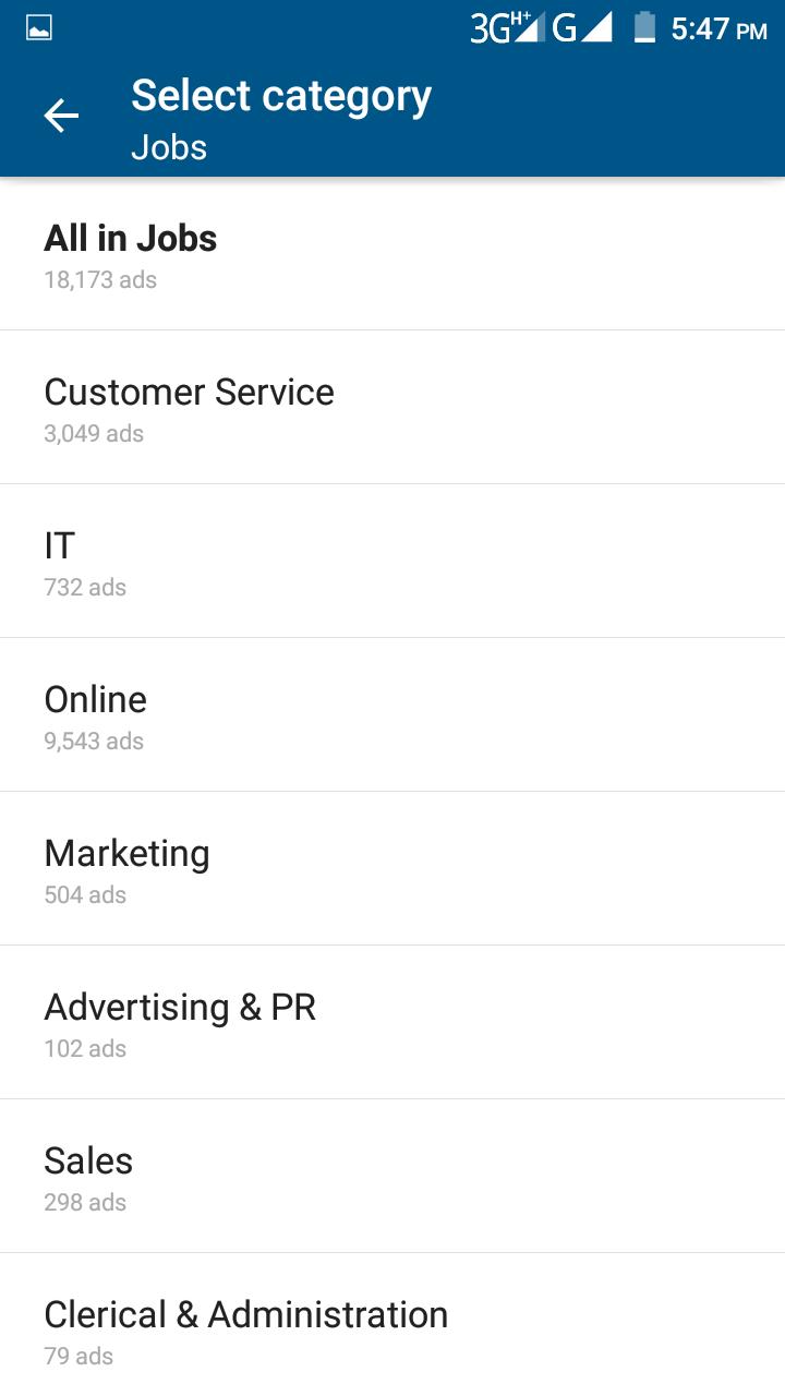 Private Job Kaise Search Kare Olx Application Se ~ Hindi Me Internet