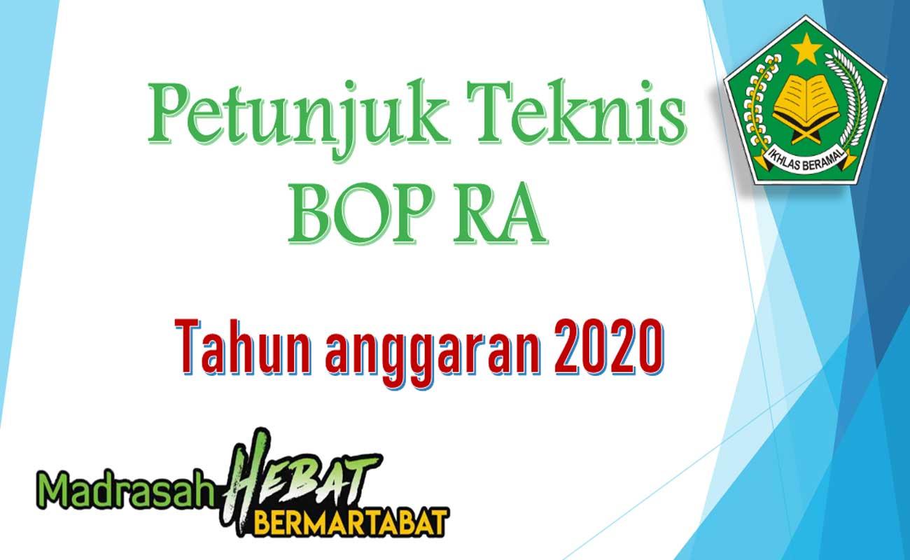 Juknis BOS Madrasah MI MTs MA Tahun 2020
