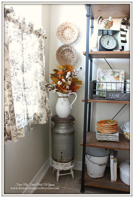 Farmhouse Style- Fall Kitchen-Vinatge Style-From My Front Porch To Yours-Vintage Milk Jug