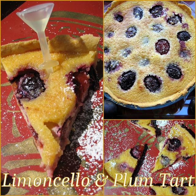 tarte, frangipane, plum, limoncello, top shot, lakeland
