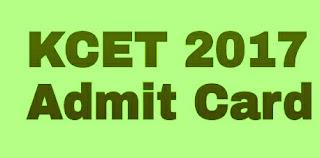 KCET Admit card download 2017, KCET Hall ticket download 2017