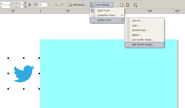 Trace Bitmap Gambar di coreldraw