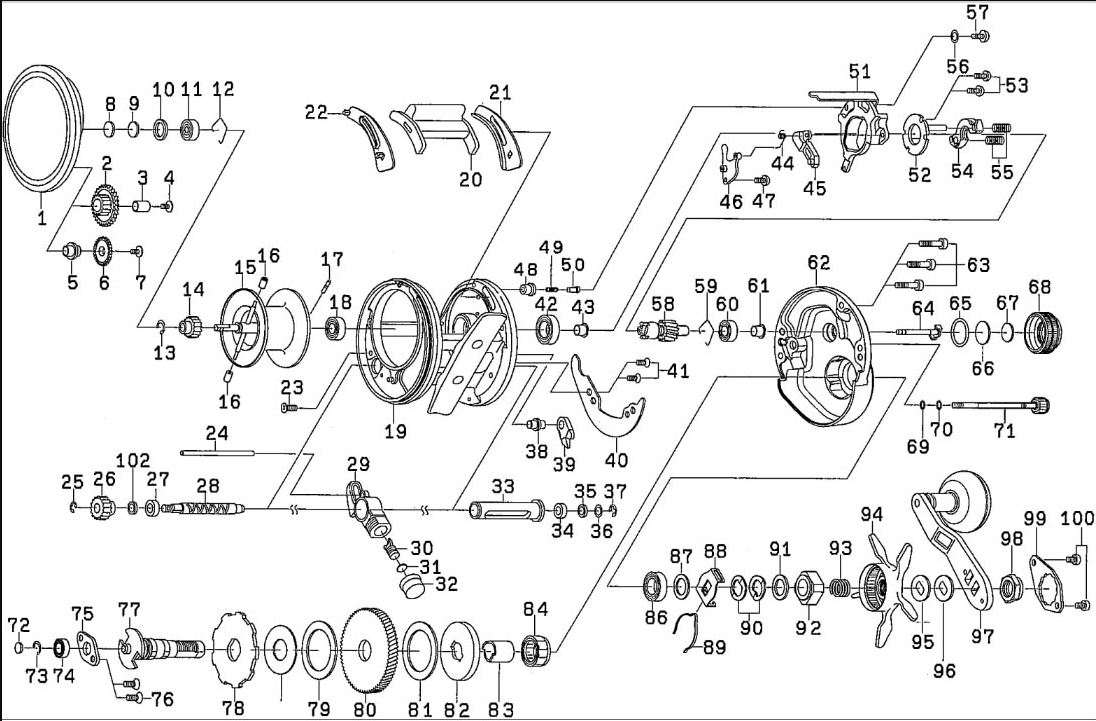 most complete reels schematics : daiwa catalina ... on