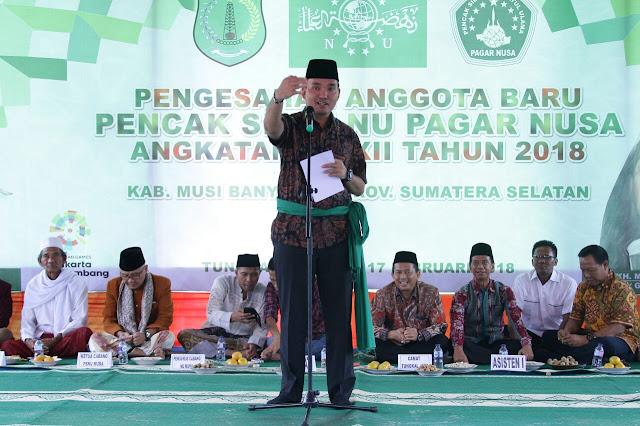 Ratusan PSNU Pagar Nusa Muba Resmi Dikukuhkan
