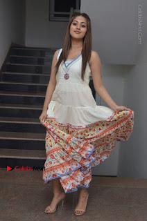 Telugu Actress Anu Emmanuel New Stills in Beautiful White Long Dress  0081.JPG