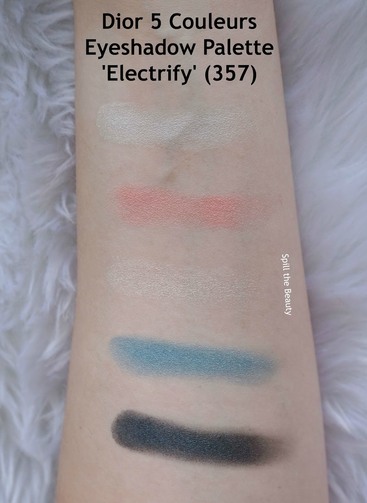 dior 5 couleurs eyeshadow palette electrify 357 review swatches look
