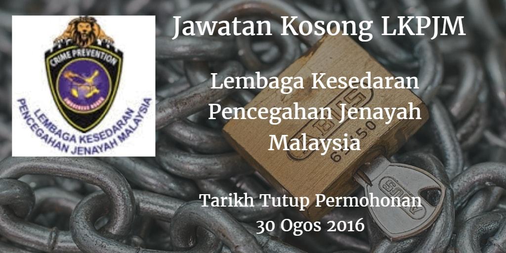 Jawatan Kosong LKPJM 30 Ogos 2016