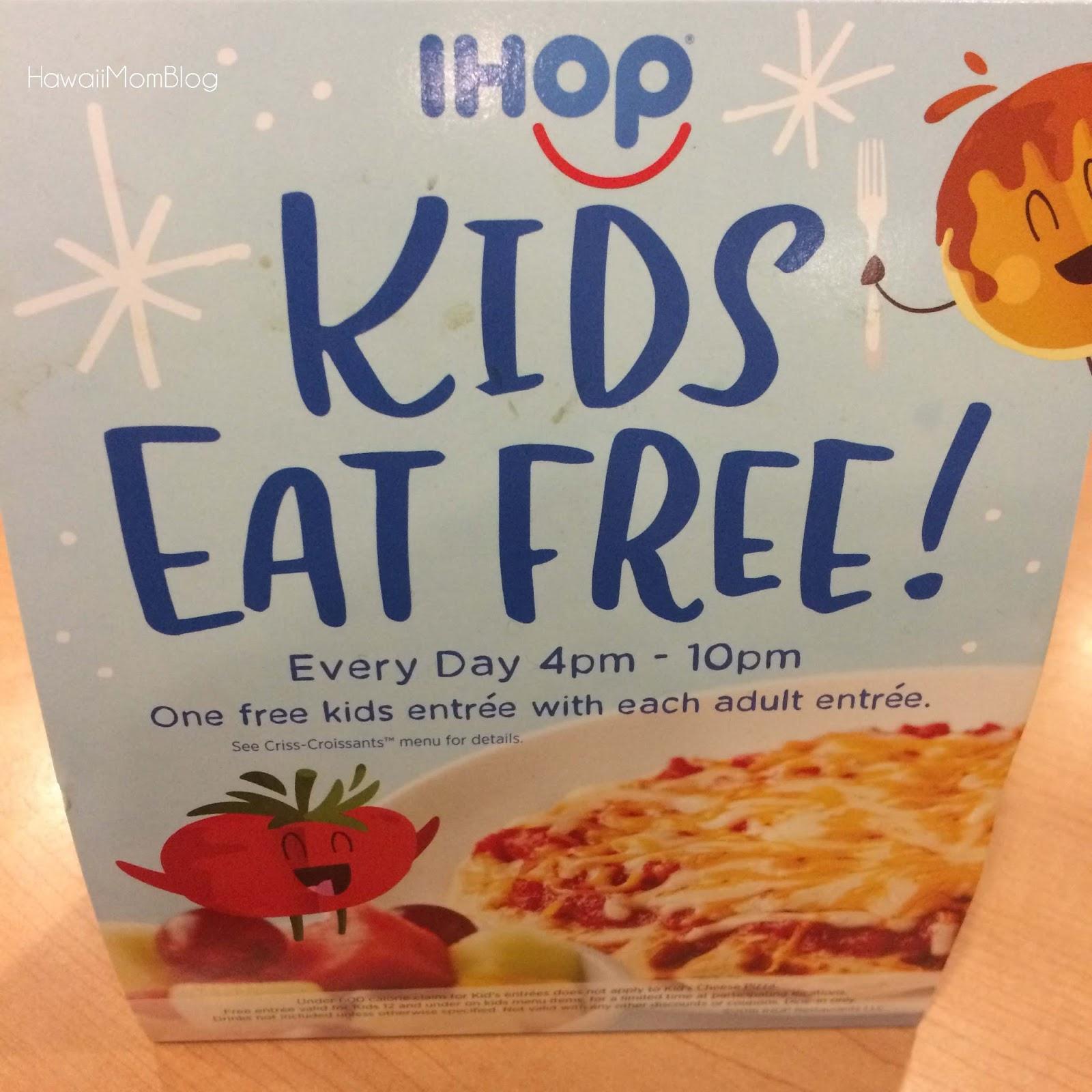 hawaii mom blog: kids eat free at ihop through september 25