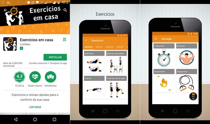 3 aplicativos para treinar sem sair de casa
