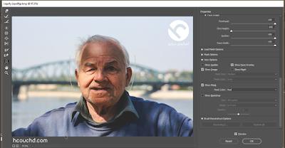 تحسين أداة تغير بينة الوجه Face-aware liquify Photoshop CC 2017