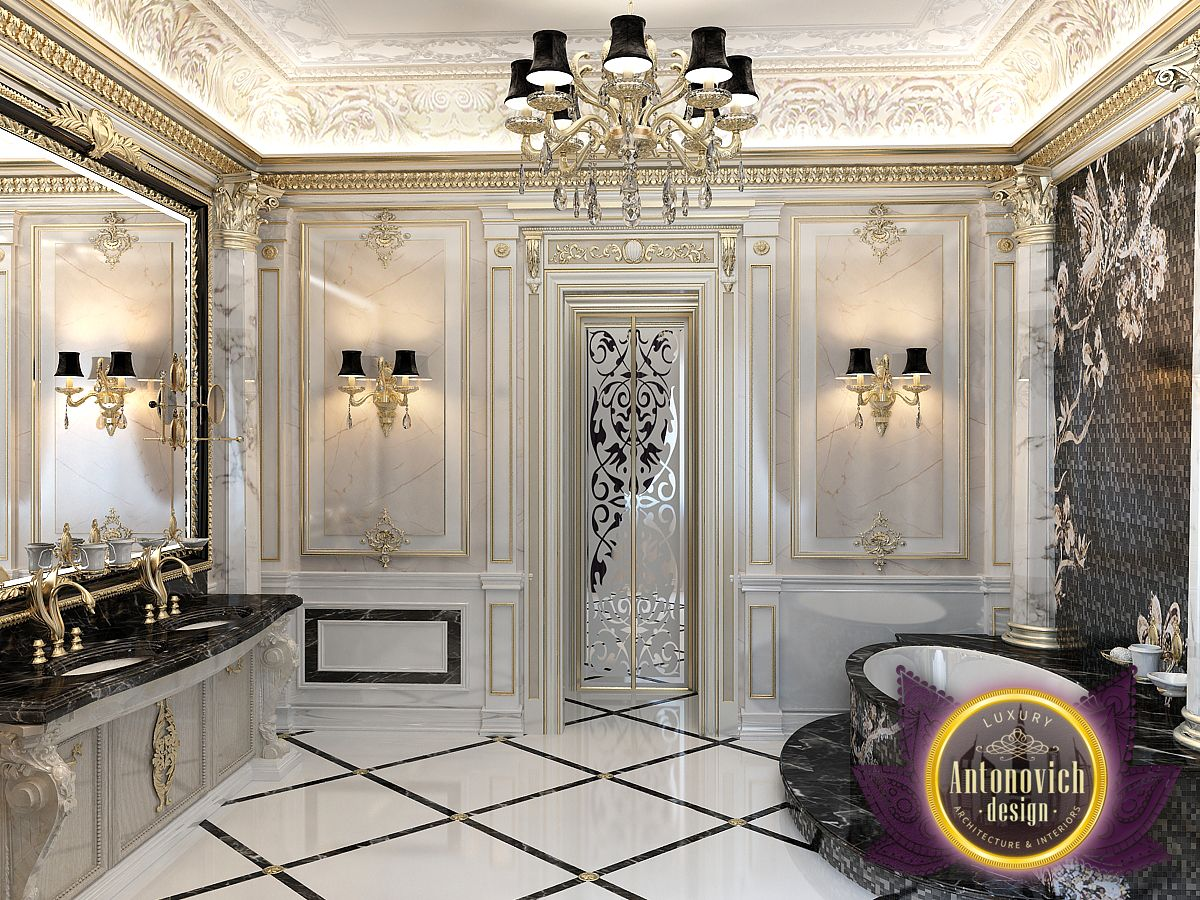 Luxury antonovich design uae bathroom interior designs from luxury antonovich design Bathroom interior design 2016