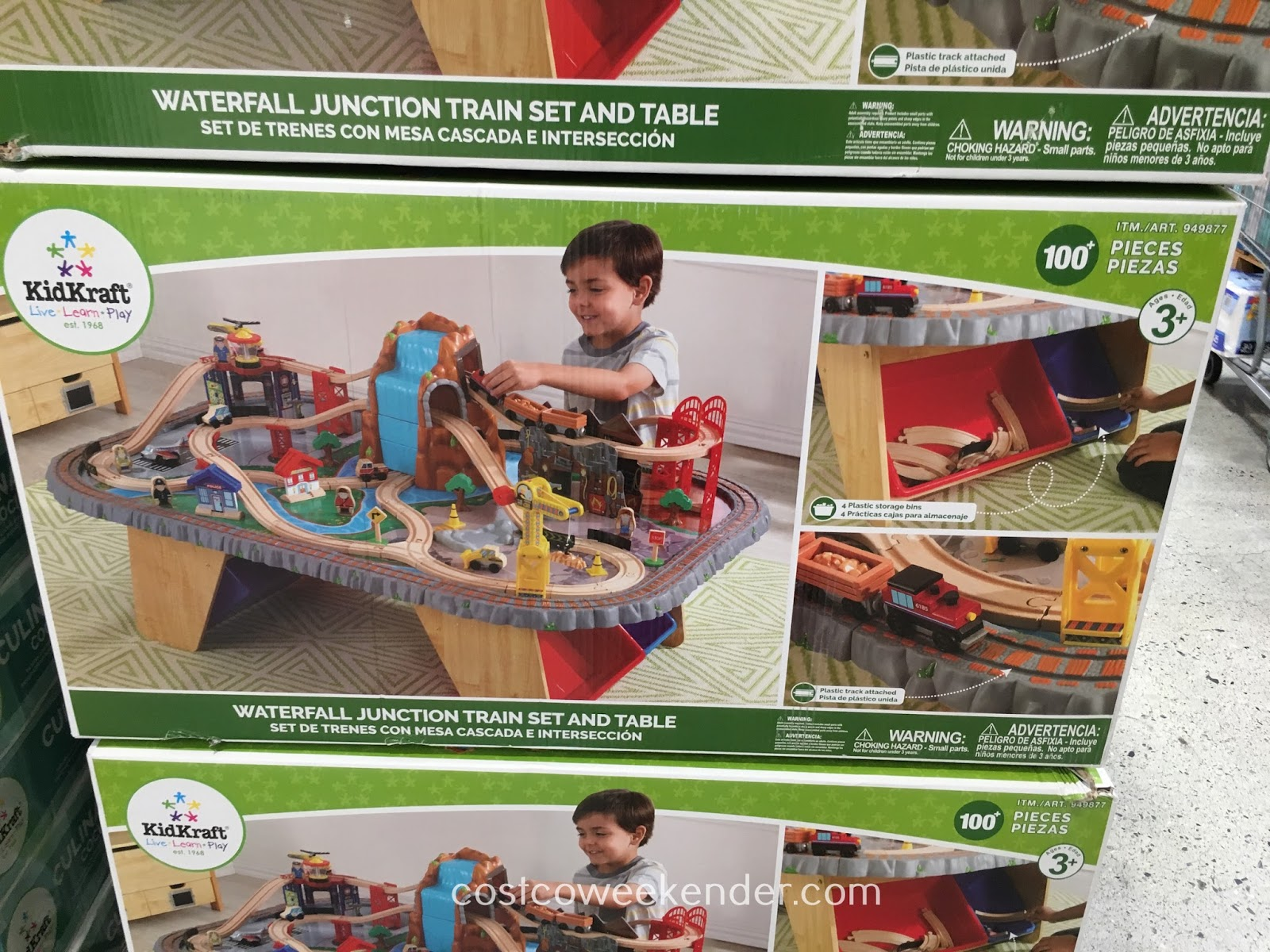 KidKraft Waterfall Junction Train Set and Table - Perfect for stimulating a young explorer's imagination