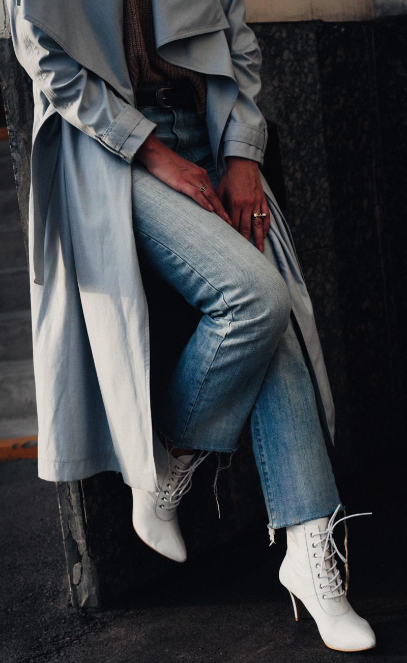 тренд осени 2017 белые ботинки