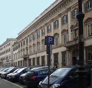 The Palazzo Chigi-Odescalchi in Rome