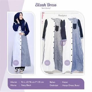 Jual Baju Busana Muslim Elizah Dress