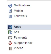 Facebook App Settings