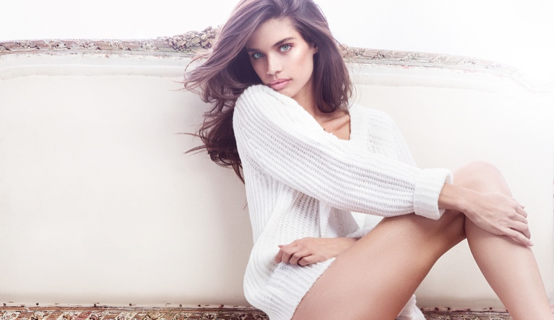 Sara Sampaio smoulders for the Sunaj Fall/Winter 2015 Lookbook