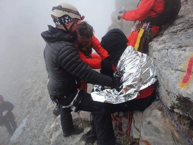 Όλυμπος: Στα Πριόνια οι δυο τραυματισμένοι ορειβάτες