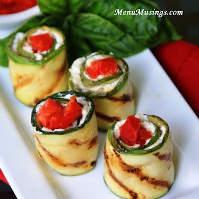 Grilled Zucchini Rolls_menumusings.com