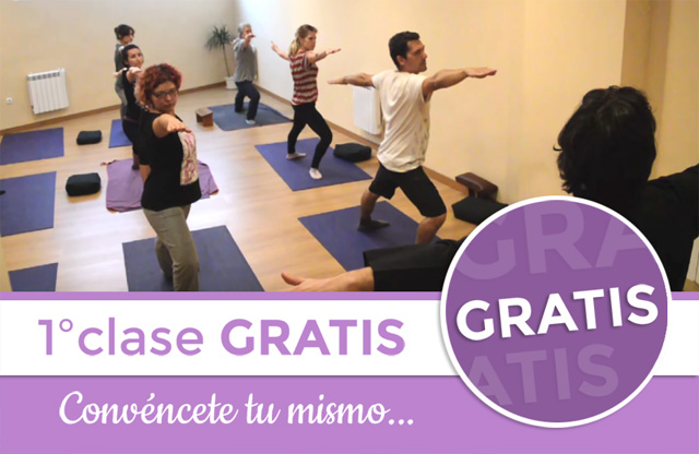 1º Clase de Yoga gratis en Zaragoza