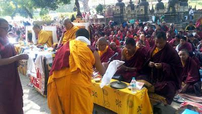 religious programme near Bodhi Tree bodhgaya