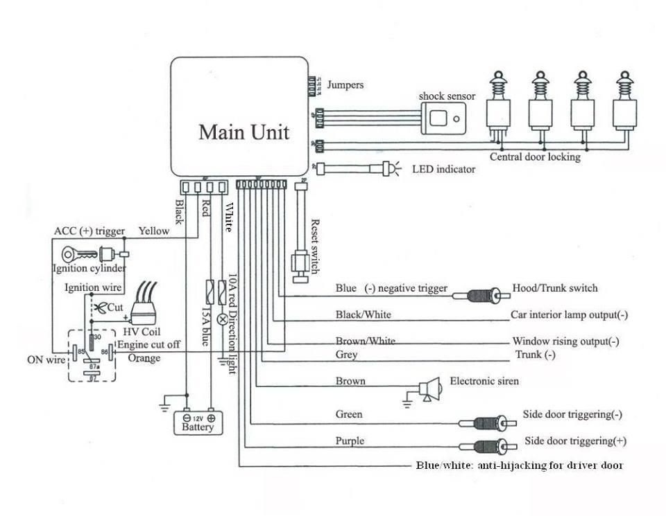 Viper Car Alarm System Diagram