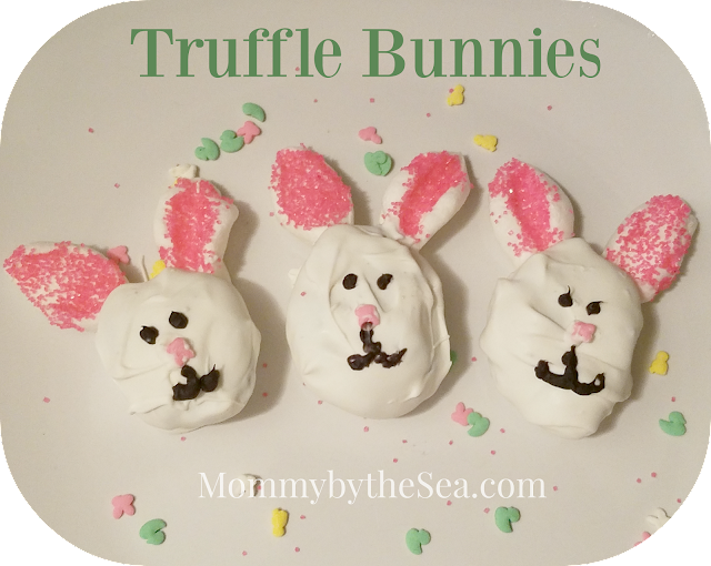 Easter cake pop truffle bunnies chocolate
