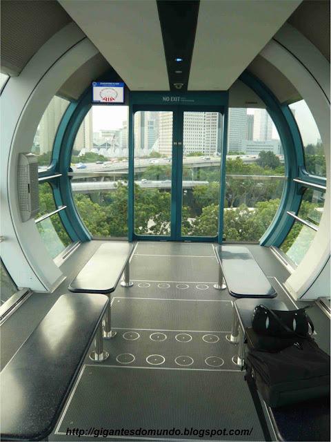 cabine da segunda maior roda gigante do mundo