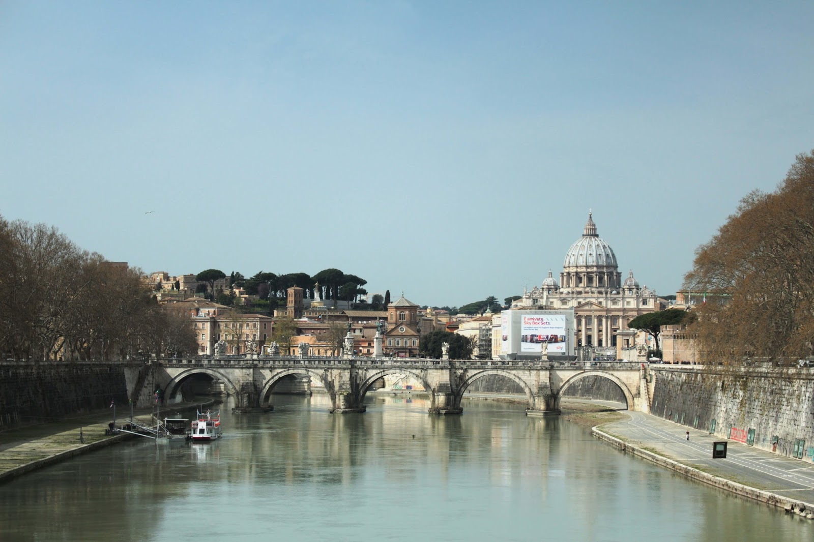 St Peter's Basilica from the Tibor river Uk rome travel diary