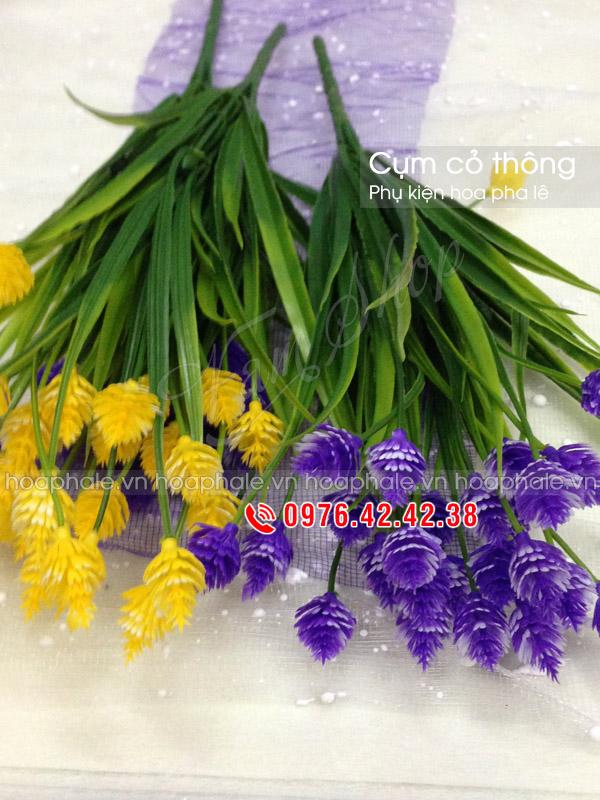 Cụm cỏ thông | Phụ kiện trang trí hoa pha lê