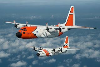 Pesawat Super Hercules milik Penjaga Pantai Amerika Serikat