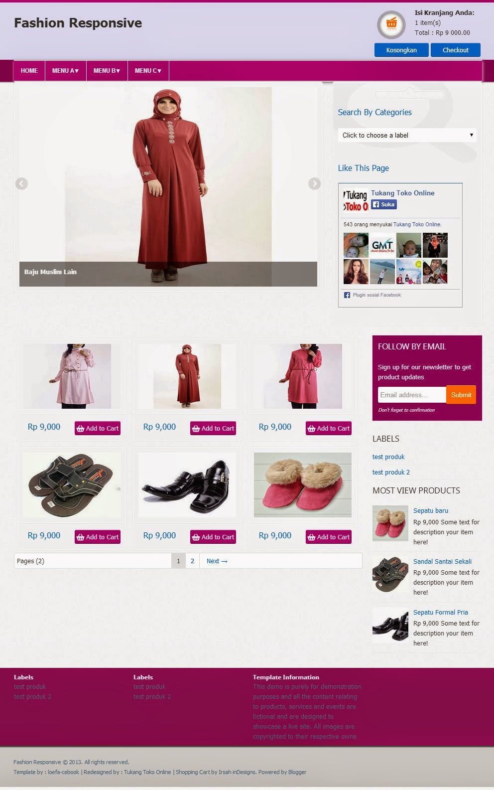 Template fashion responsive