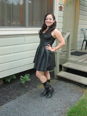 Biker Chic Leather Dress for Americade