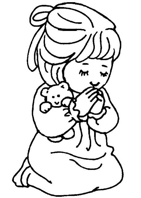 Desenho De Crianca Orando De Joelhos Para Colorir Desenhos Para