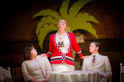 Claire Barnett Jones, Jane Wilkinson, Henry Neill - The Dowager's Oyster - photo Robert Workman