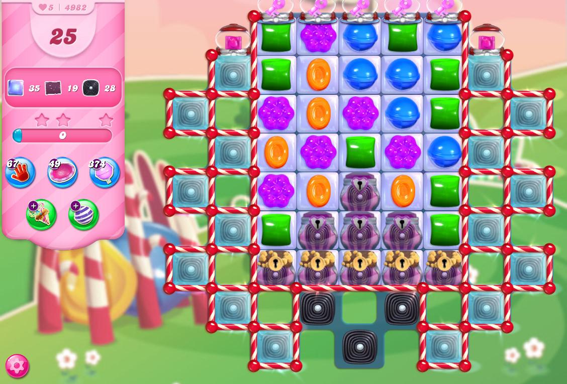 Candy Crush Saga level 4982
