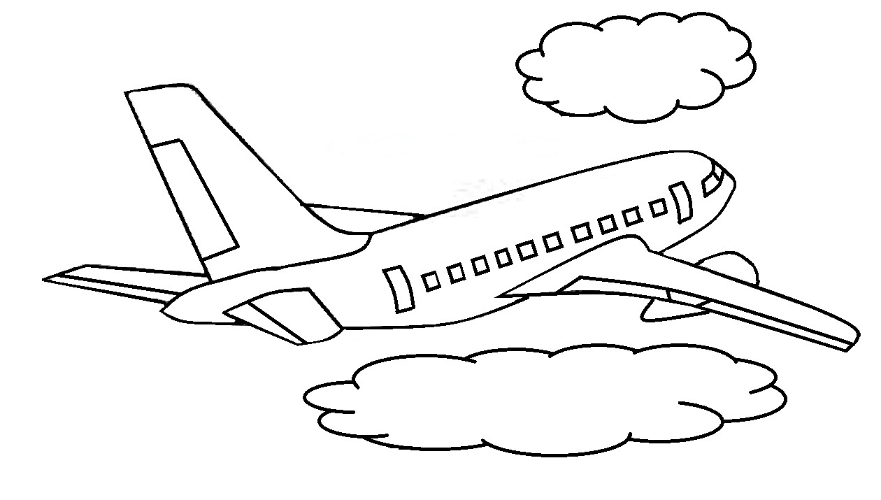 Mewarnai Gambar Pesawat Terbang Mewarnai Gambar