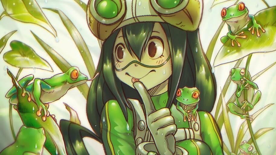Tsuyu Asui, Frogs, [My Hero Academia], 4K, #5.251 Wallpaper