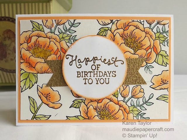 Stampin' Up! Birthday Blooms in Peekaboo Peach