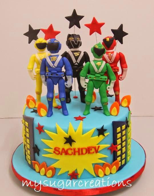 My Sugar Creations 001943746 M Power Rangers Cakes