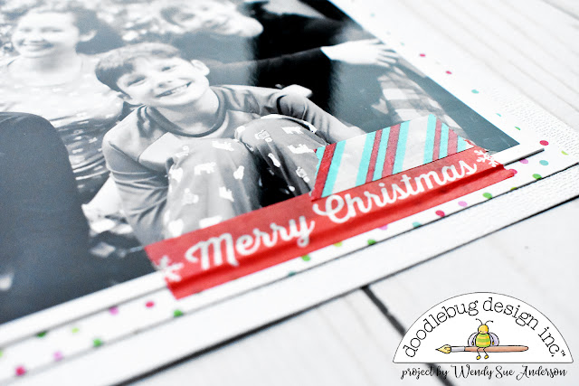 washi tape christmas tree layout by @wendysue for @doodlebugdesign