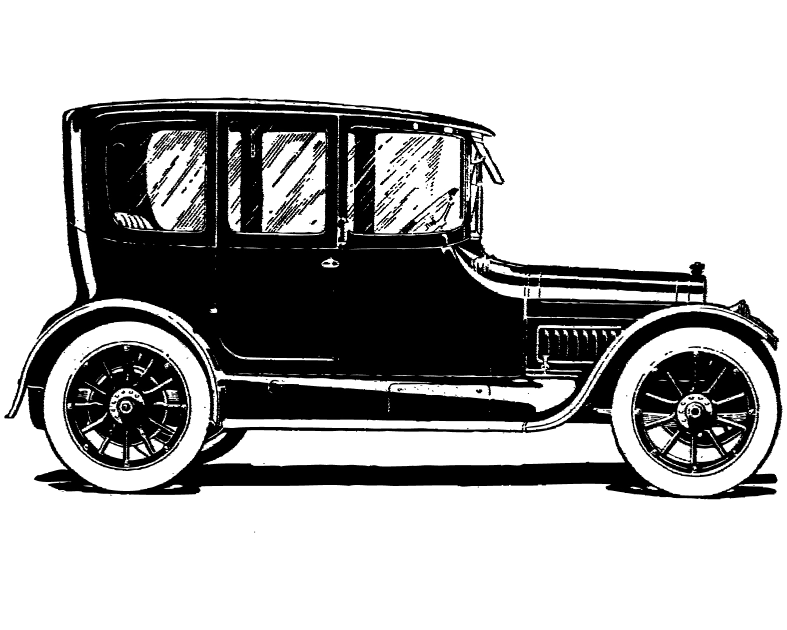 clip cars clipart antique retro silhouette coaches google ford