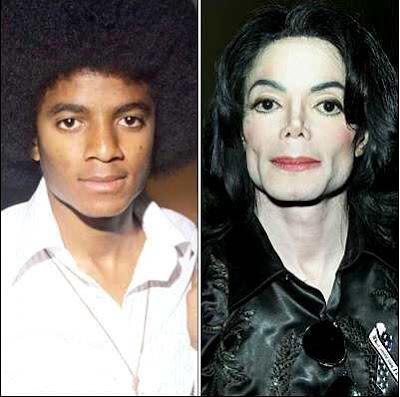 Michael Jackson con y sin transformación