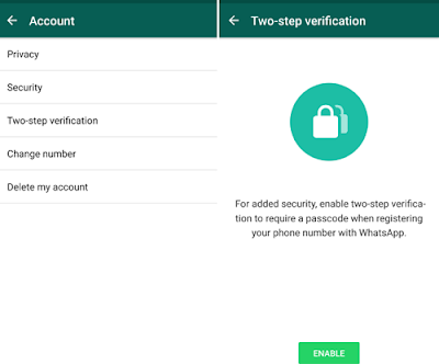 whatsapp 2 step verification, WhatsApp Improves Security With 2-Step Verification, How to To Activate WhatsApp 2-Step Verification, How to To Activate WhatsApp 2 factor Authentication
