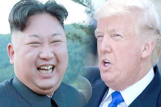 Kim Jong Un dan Donald Trump