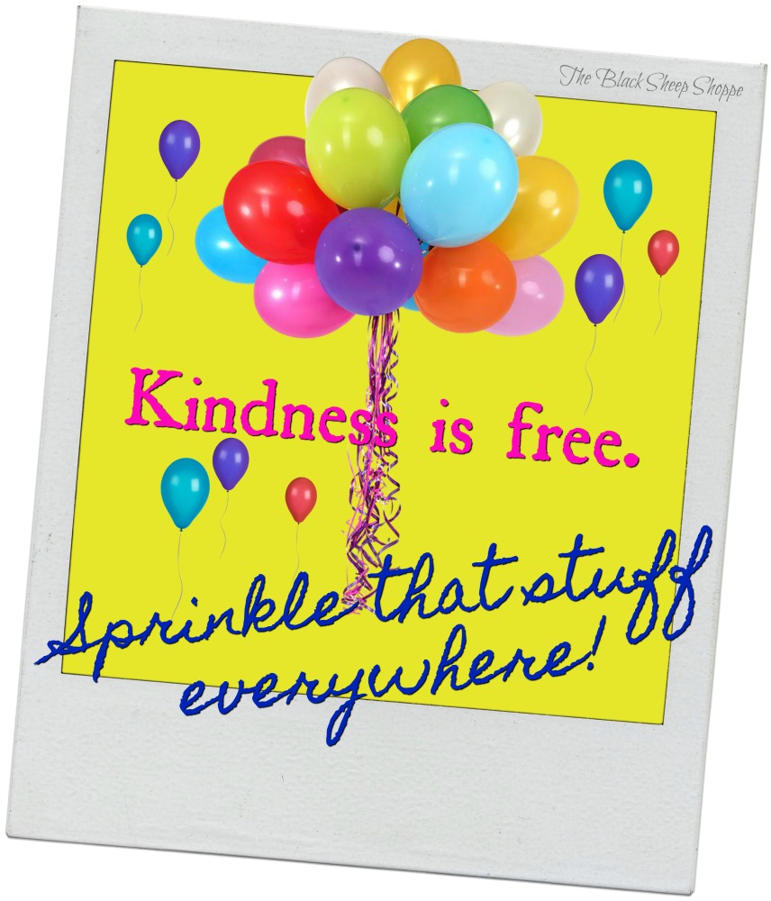 Kindness is free. Sprinkle that stuff everywhere!
